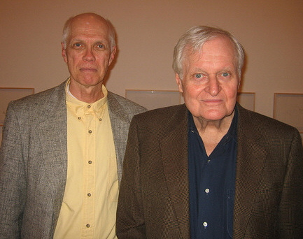 Poet Ron Padgett with Poet John Ashbery