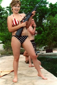 Sarah Palin Bikini Rifle