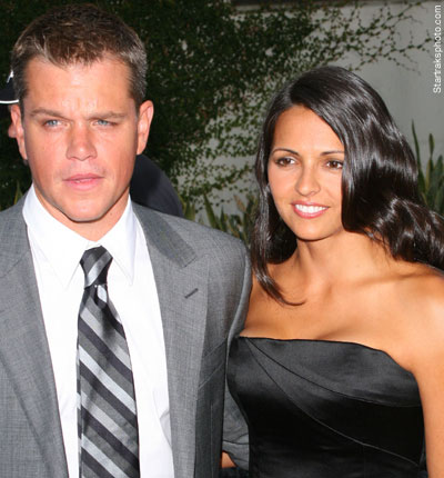 Matt Damon's wife has ...