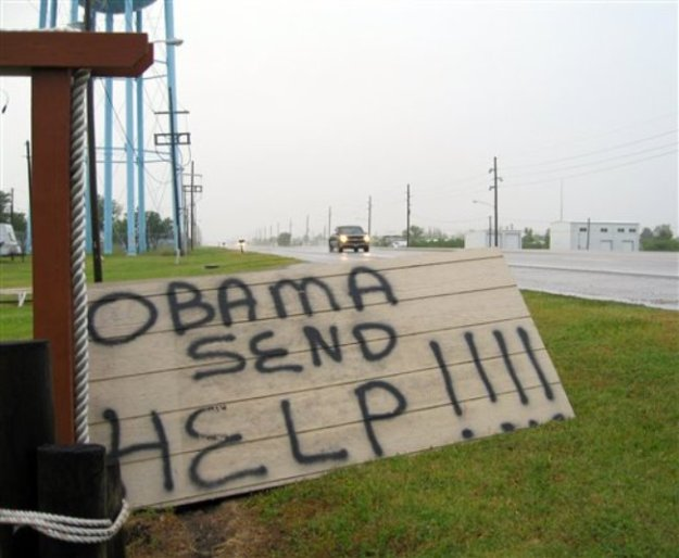 Gulf Oil Spill -- Roadside Plea to Obama in the Early Days
